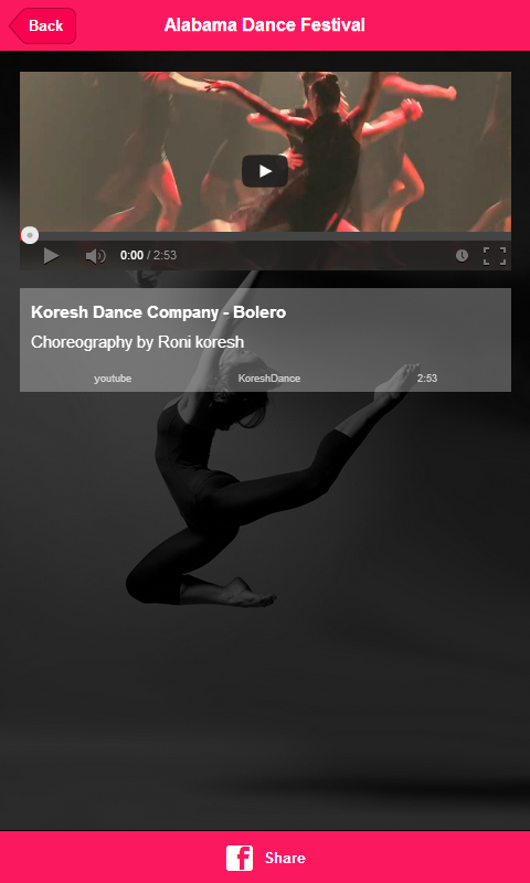 Alabama Dance Festival- screenshot