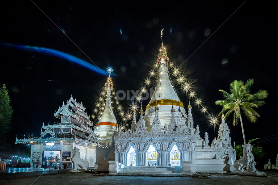 Chiang mai Temple  by Focksengheng Lg - Buildings & Architecture Places of Worship ( temple, nightview, chiang mai )