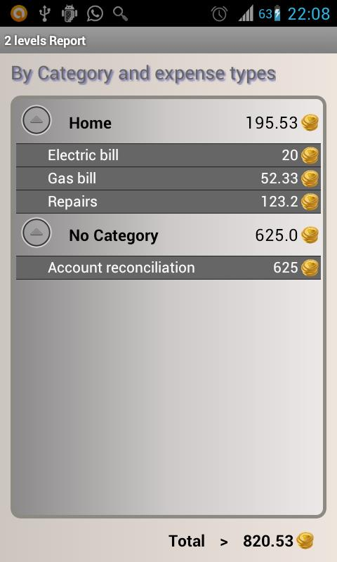 Control Expenses - screenshot