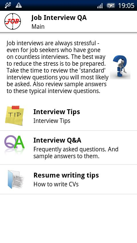 Job Interview Q&A- screenshot