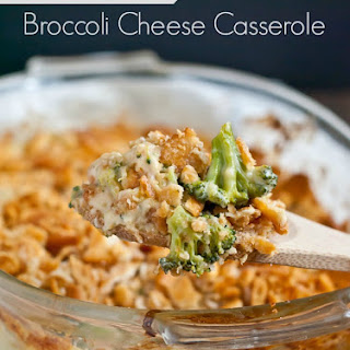 Roasted Broccoli Cheese Casserole with Ritz Topping