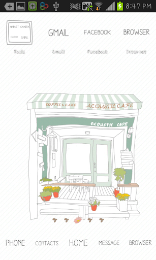 Cafe Mint GO Launcher theme
