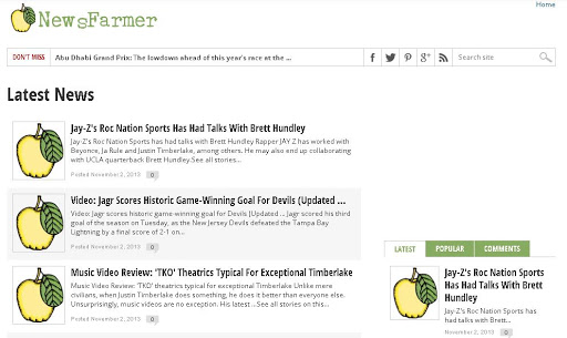 NewsFarmer Top RSS News Feeds