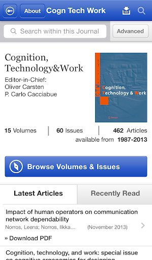 Cognition Technology and Work