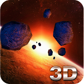 Asteroid Belt 3D Wallpaper