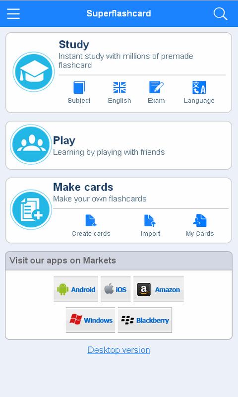 MCAD Flashcards - screenshot