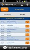 Screenshot of myTrains UK Live Train Times