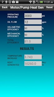 Hydraulic Heat Calculator- screenshot thumbnail