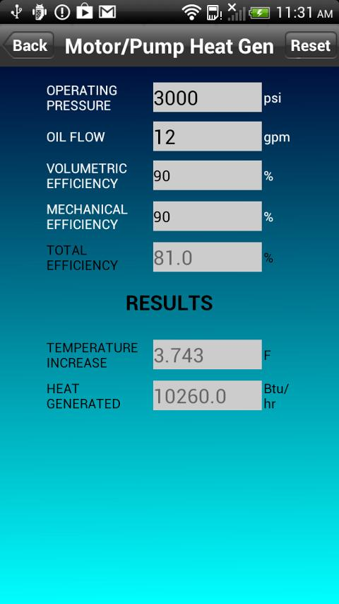 Hydraulic Heat Calculator Android Apps On Google Play