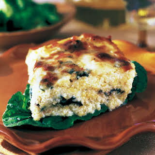 Baked Polenta with Swiss Chard and Cheese.