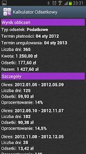 Kalkulator Odsetkowy Screenshot 4