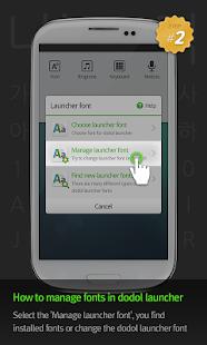 삐뚤빼뚤윤자 dodol launcher font - screenshot thumbnail