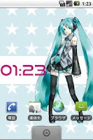 Screenshot of Hatsune Miku Live Wallpaper