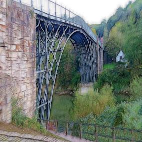 Ironbridge  by Simon Alun Hark - Digital Art Places ( severn, ironbridge, shropshire, telford, heritage )