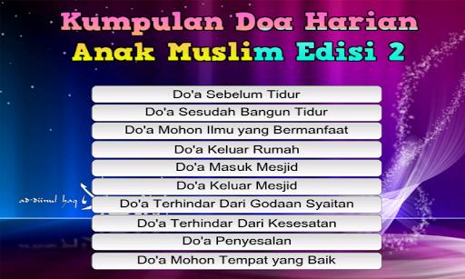 Kumpulan Doa Anak Muslim 2nd