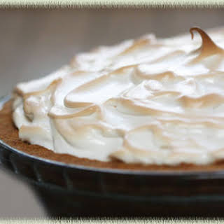 Meyer Lemon Silk Meringue Pie.