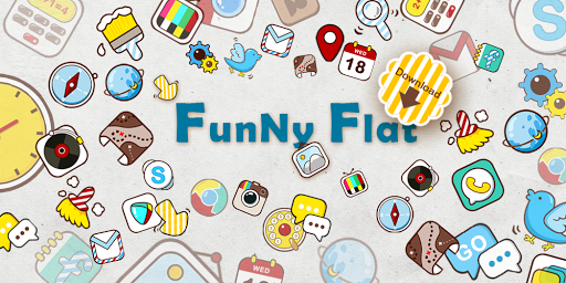 Funny Flat GO Launcher Theme v1.0 1