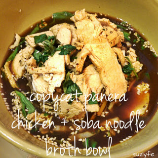 Copycat Panera Chicken Soba Noodle Broth Bowl