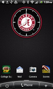 Alabama Crimson Tide Clock - screenshot thumbnail