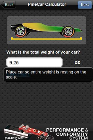 PineCar Calculator- screenshot