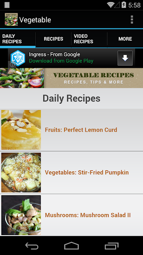 Vegetable Recipes