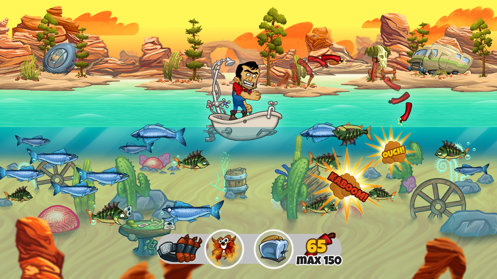 Dynamite fishing world games premium android apps on for World of fishing
