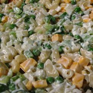 Macaroni Salad With Peas And Cheddar Cheese Recipes.