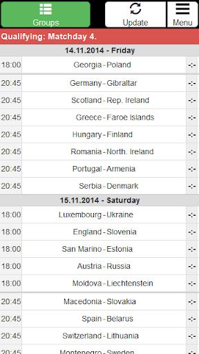 EC 2016 Match schedule +Quali.