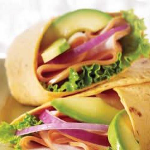 Avocado and Cranberry Mustard Turkey Wrap