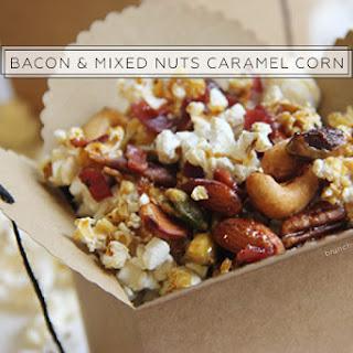 Bacon & Mixed Nuts Caramel Corn for #SundaySupper.