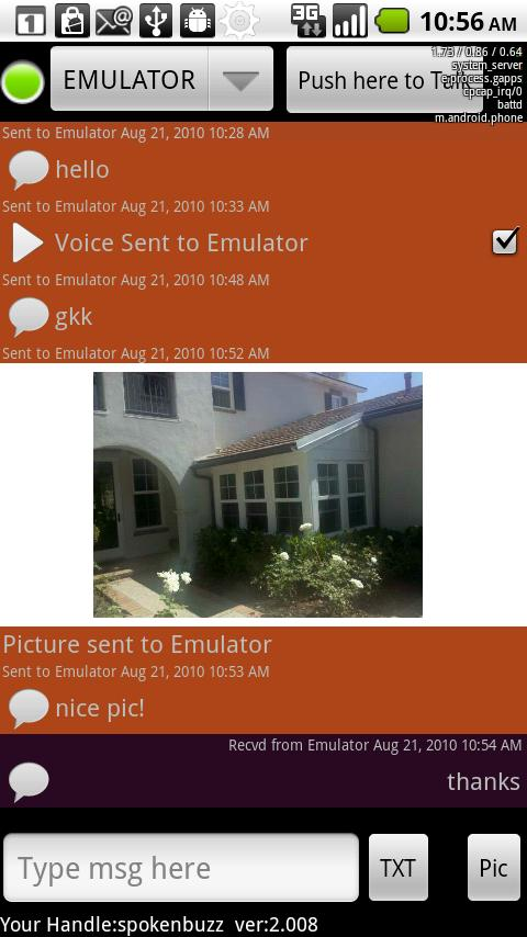 ChirpMe PTT Walky Talky - screenshot