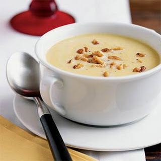 Butternut Squash Soup with Toasted Walnuts.