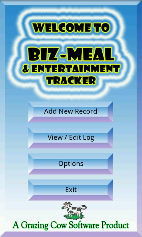 Business Meal Tracker - screenshot