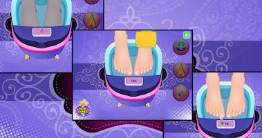 Screenshot of Foot spa for girls - Pedicure