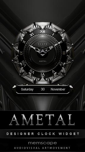 AMETAL Designer Clock Widget
