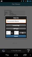 Screenshot of MetroFax Mobile