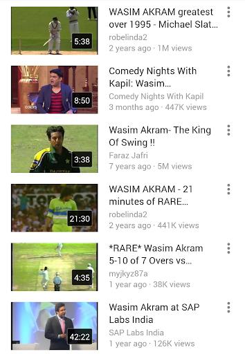 Best Of Wasim Akram Videos