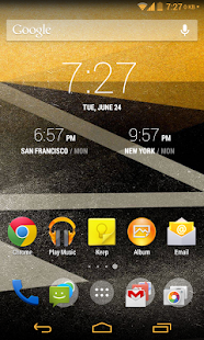 Yellow Gold CM11 theme - screenshot thumbnail