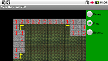 Screenshot of Sonar Minefield