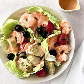 Shrimp, Artichoke, and Olive Salad.