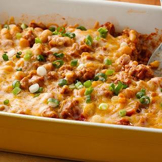 Make-Ahead Cheesy Turkey Chili Bake
