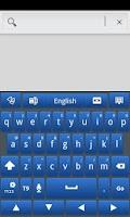 Screenshot of Blue Galaxy GO Keyboard Theme