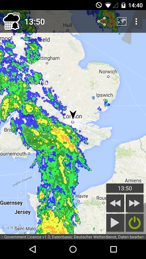 Rain Alarm Pro - screenshot