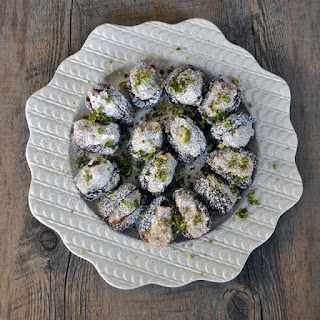 Dates Stuffed with Rosewater-Almond Paste.