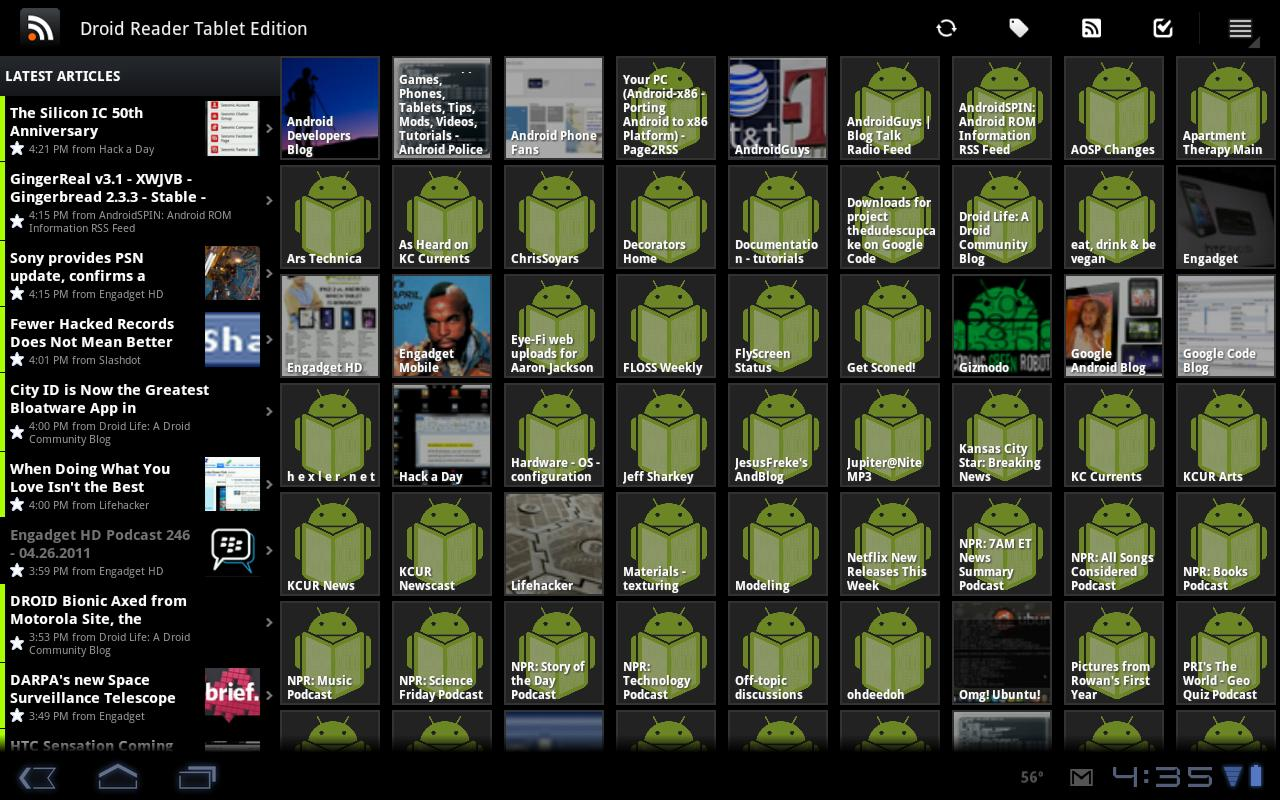 Droid Reader Tablet Beta - screenshot