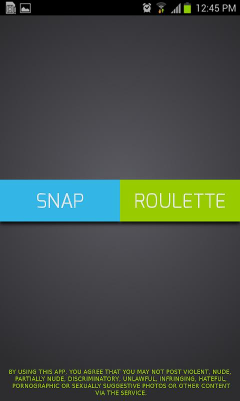 Snaproulette- screenshot
