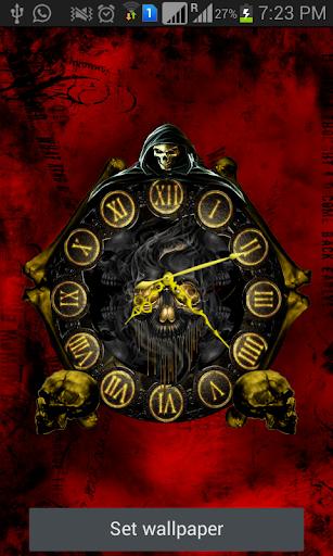 玩免費個人化APP 下載Skull Clock Live Wallpaper app不用錢 硬是要APP