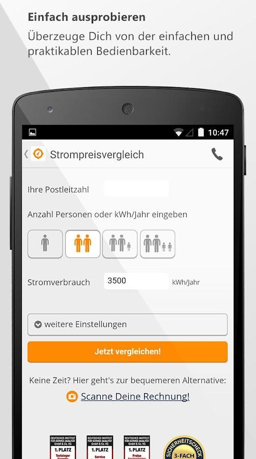 Verivox - Vergleiche - screenshot