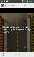 Screenshot of Adivinanzas