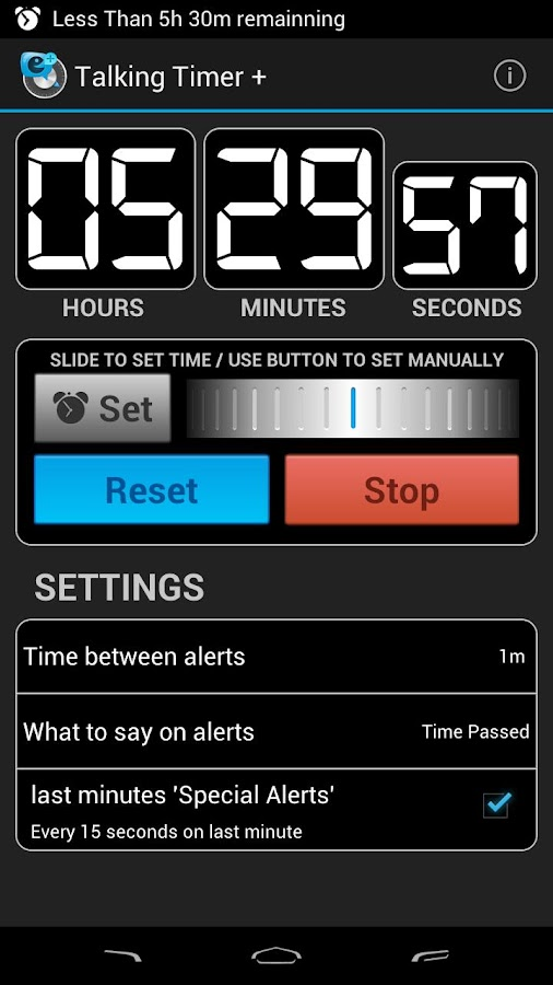 Talking Timer +- screenshot